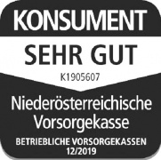 Auszeichnung Verein für Konsumenteninformation - Bestnote sehr gut für die Niederösterreichische Vorsorgekasse
